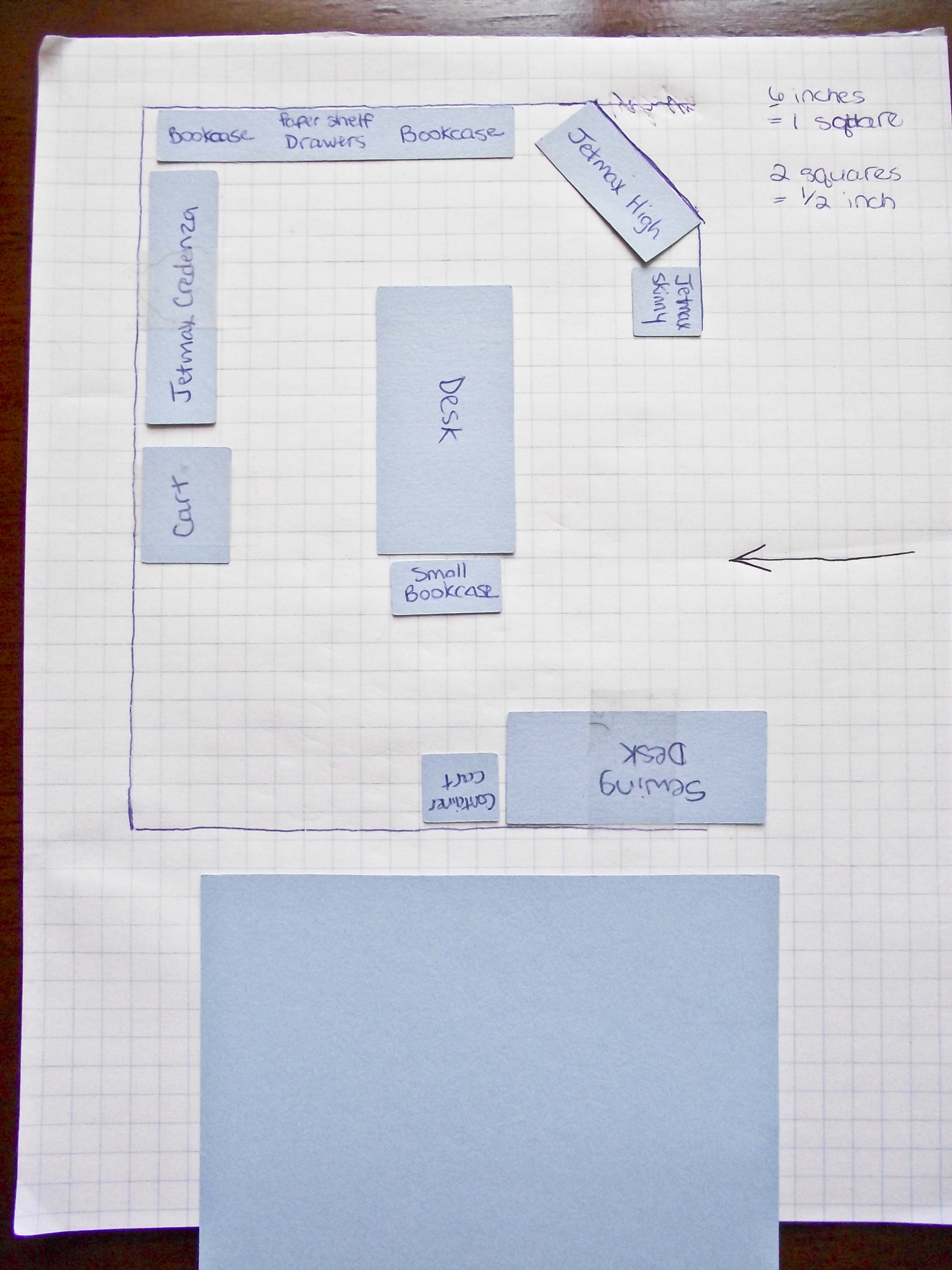 Craft room plan blueprint