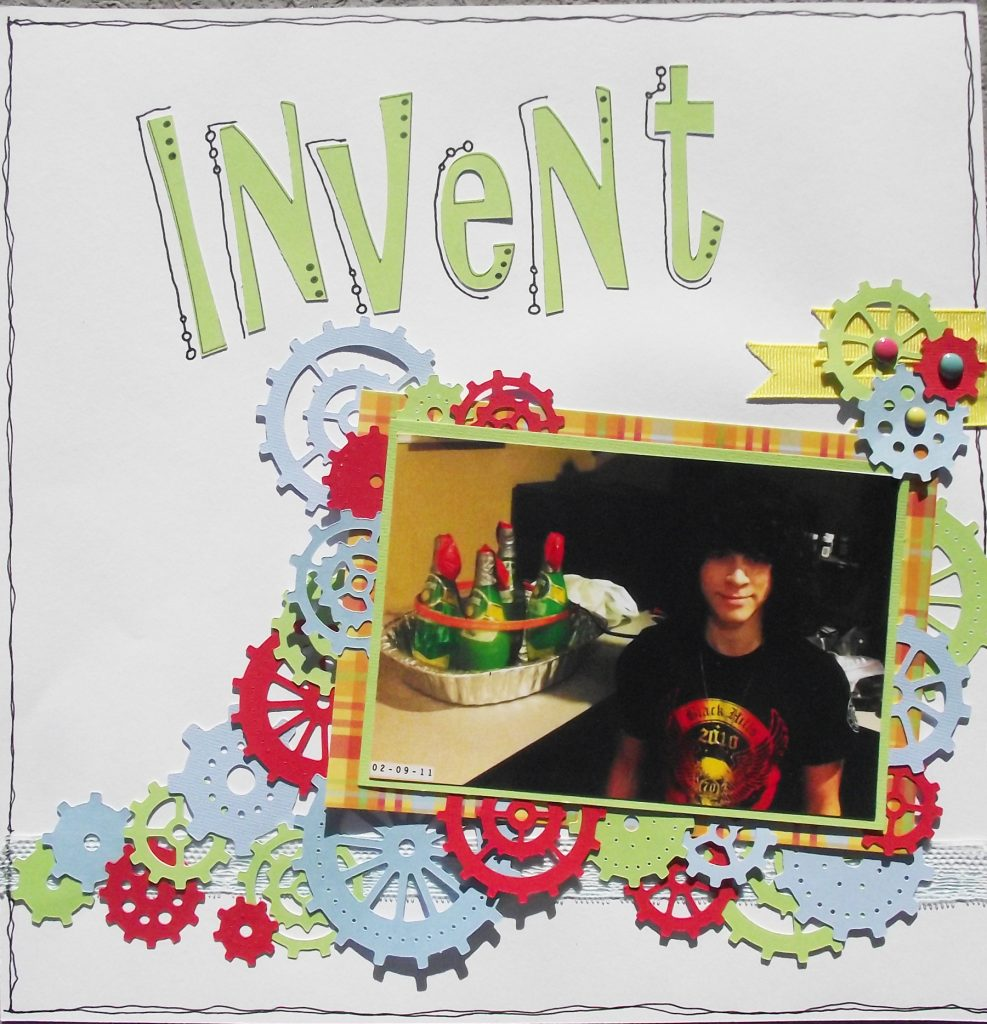 Invent Scrapbook Layout