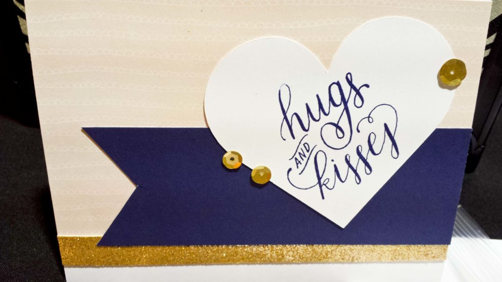 Crop & Create Hugs Kisses Card