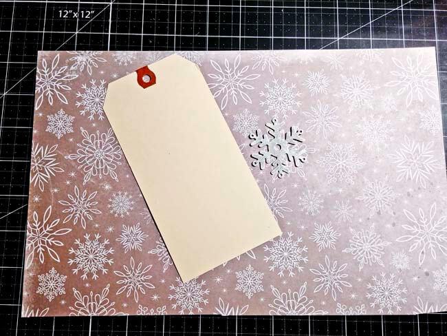 Christmas Snowflake Tag 1