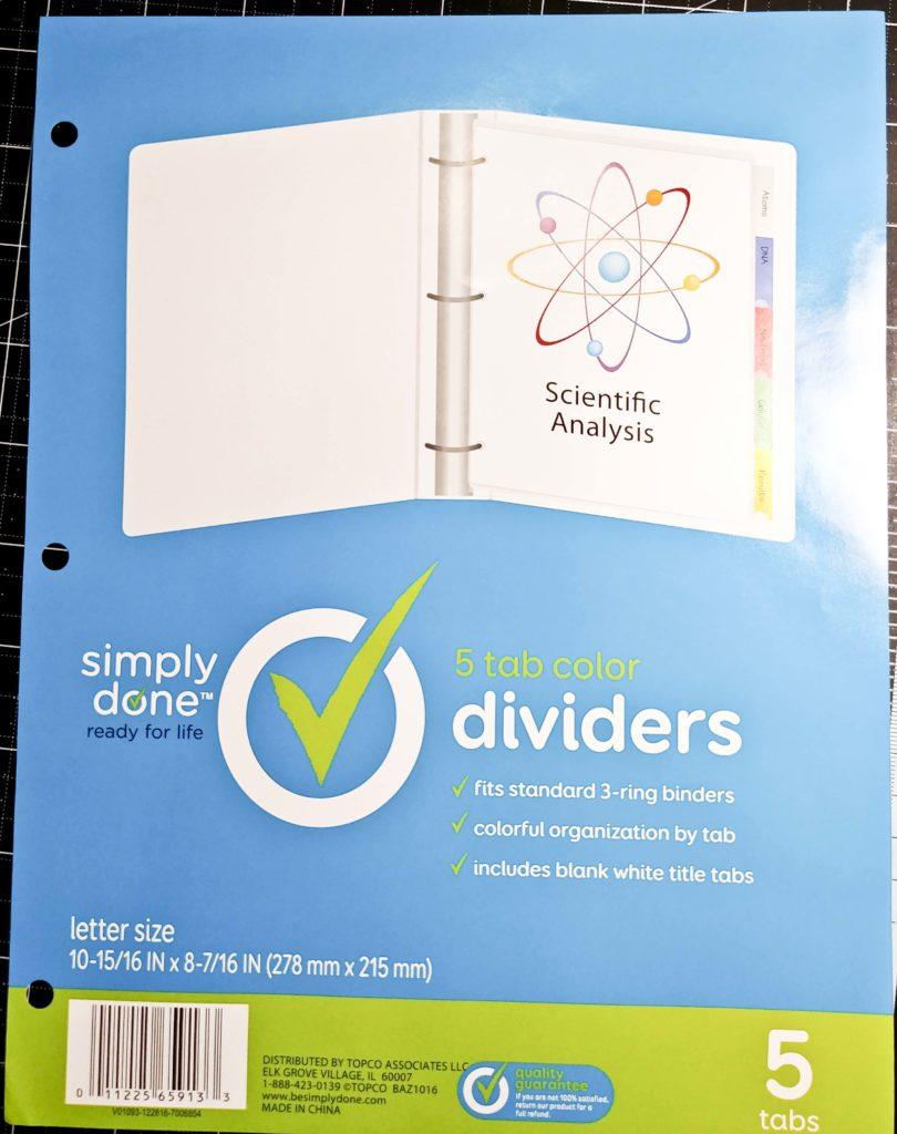 Index Dividers